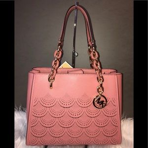 Michael Kors Tote Sofia Medium North South Rose